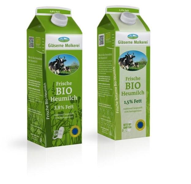 LOGO_Gläserne Molkerei Frische Bio-Heumilch, Bioland (3,8% Fett und 1,5% Fett)