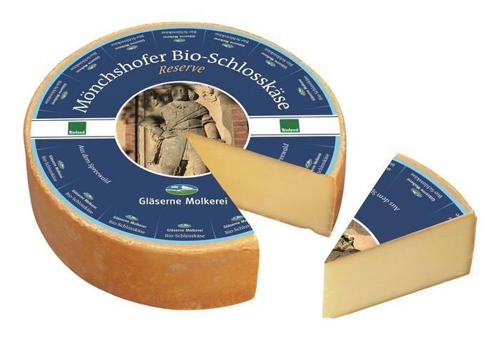 LOGO_Gläserne Molkerei Mönchshofer Bio-Schlosskäse, Bioland-Heumilch