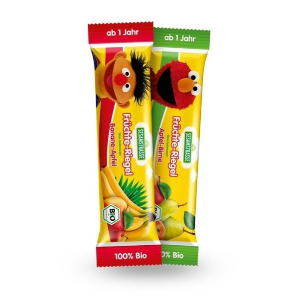 LOGO_SESAME STREET Organic fruit bars for children