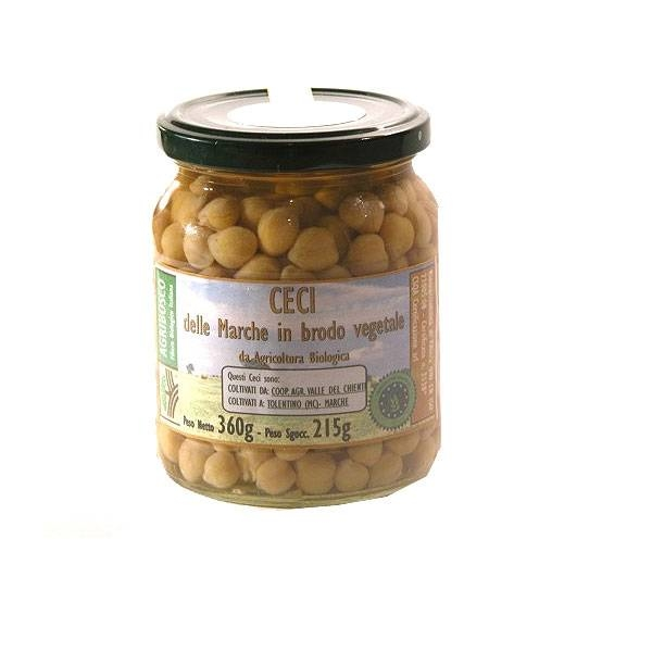 LOGO_Organic Chickpeas in vegetable broth 360gr