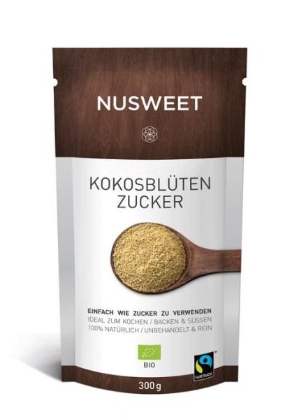 LOGO_NUSWEET Bio-Kokosblütenzucker FAIRTRADE