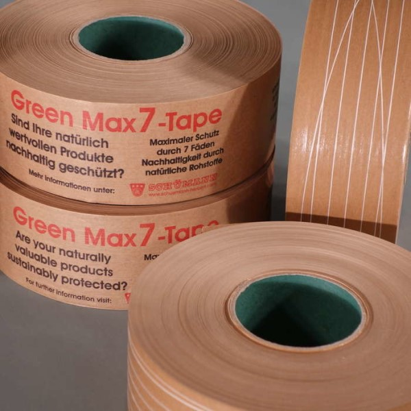 LOGO_Schümann Green Max7 tape – for the sustainable closing of cardboard packaging