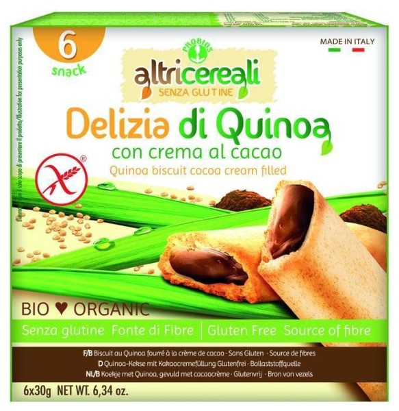 LOGO_Delizia Quinoa Kekse mit Kakaocremefüllung 30 g
