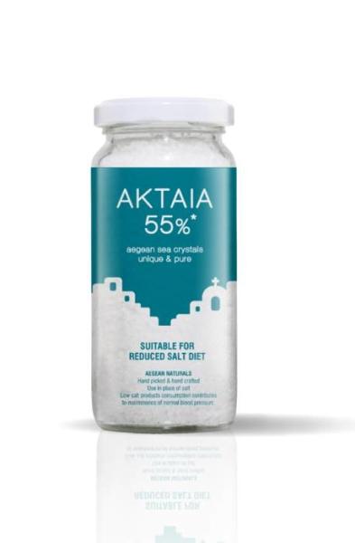 LOGO_AKTAIA 55% - sea crystals® – from the Aegean Sea - low sodium