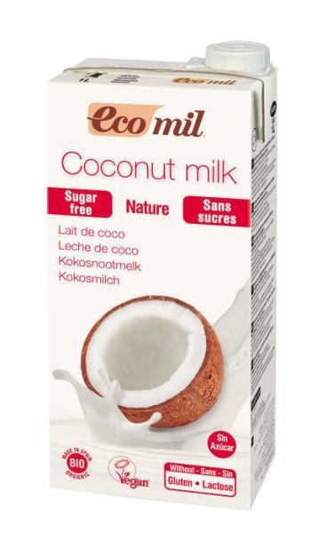 LOGO_ECOMIL Kokosmilch zuckerfrei Bio 1 L