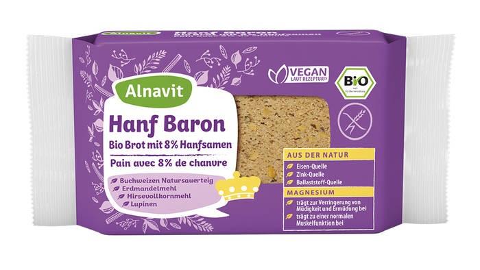 LOGO_Hanf Baron Bio Brot mit 8 % Hanfsamen
