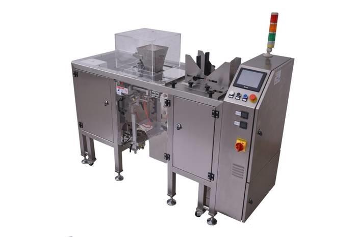 """LOGO_Verschließmaschine für vorgefertigte Beutel mit integrierter Beutelvorrichtung """"Pre-Made-Bag""""- Maschine"""