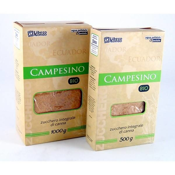 "LOGO_""Campesino"" – Unrefined whole cane sugar (Panela type)"