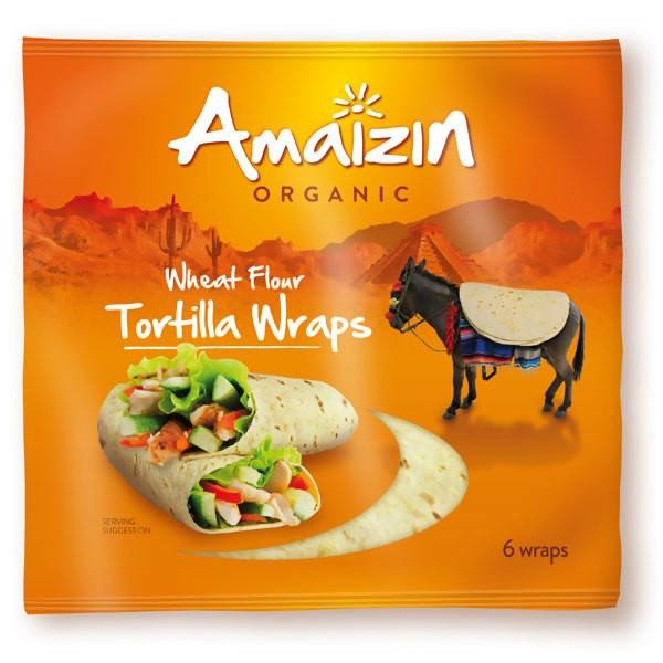 LOGO_Tortilla wrap for easy and healthy cooking. Endless possibilities. 6 per pack