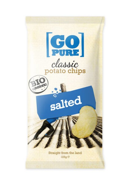 LOGO_GoPure organic classic chips salted 125g