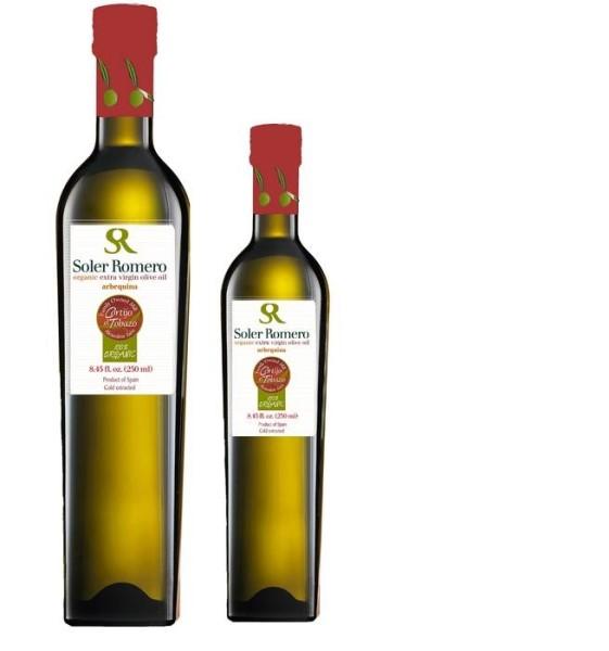 LOGO_Organic extra virgin olive oil, 100% Arbequina.