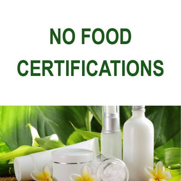 LOGO_NO FOOD CERTIFICATIONS: NATRUE (COSMETICS), GOTS (TEXTILES), FAIR TRADE, ECO ENERGY.