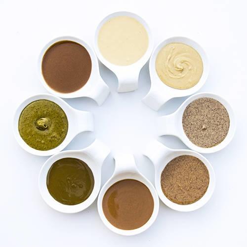 LOGO_Organic, hazelnut, almond and pistachio paste