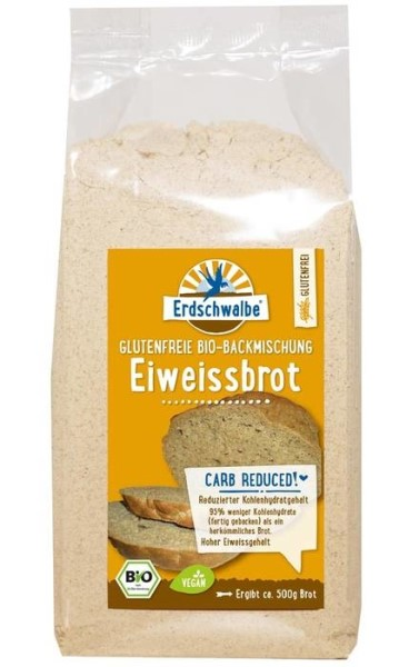 LOGO_Erdschwalbe High-Protein Bread. Gluten-free, Reduced carbohydrate content. Baking mix.