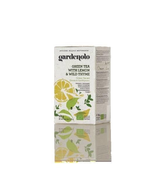 LOGO_Gardenolo Bio Grűner Tee mit Zitrone und Sandthymian