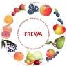LOGO_Apfel-rote Früchtesaft aus kontrolliert biologischem Anbau unter dem Markennamen FREYA