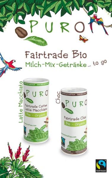 LOGO_Puro Bio Fairtrade Milchmischgetränke