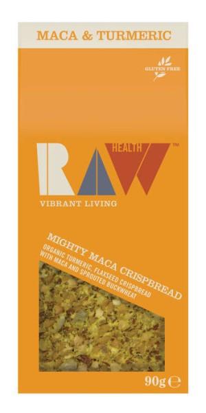 LOGO_Raw Health Organic Mighty Maca - Turmeric Crispbread