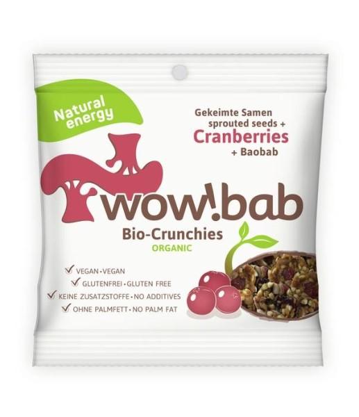LOGO_wow!bab Crunchies Cranberries mit Baobab und gekeimten Saaten