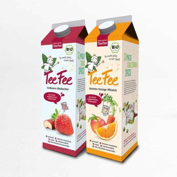 LOGO_TeeFee - zuckerfreies Erfrischungsgetränk aus frisch aufgebrühten Kräutern, Obst und Gemüse (Elopak 1L)