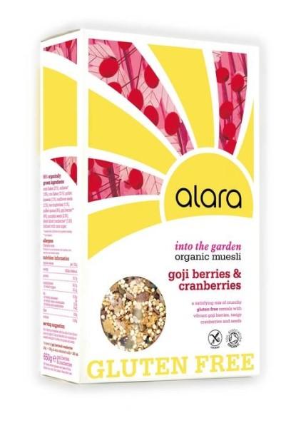LOGO_Alara Into the Garden Organic Gluten Free Goji and Cranberries Muesli