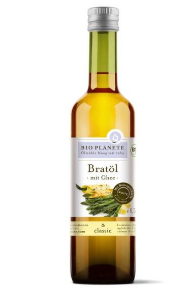 LOGO_Bratöl mit Ghee - Laktosefrei, mit natürlichem Buttergeschmack. 500 ml