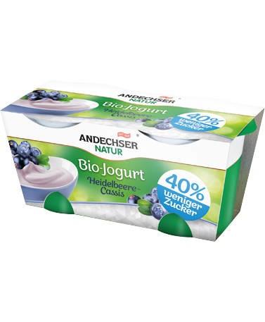 LOGO_Sugar-reduced ANDECHSER NATUR organic yoghurt vanilla, 2x125g