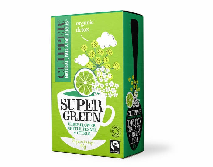LOGO_CLIPPER Organic Super Green Detox Tea - Elderflower, Nettle, Fennel & Citrus