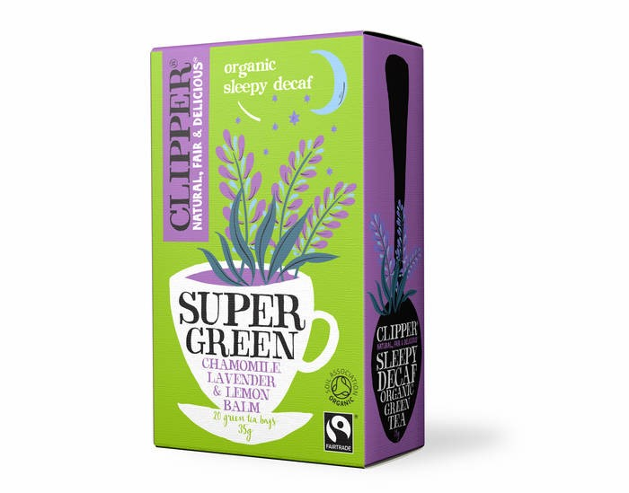 LOGO_CLIPPER Organic Super Green Sleepy Decaf Tea - Lavender, Chamomile & Lemon Balm