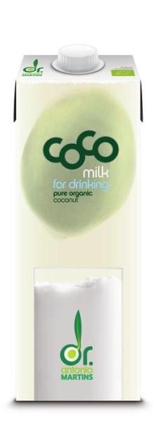 LOGO_coco milk for drinking – 1000ml Tetra Edge mit Schraubverschluss