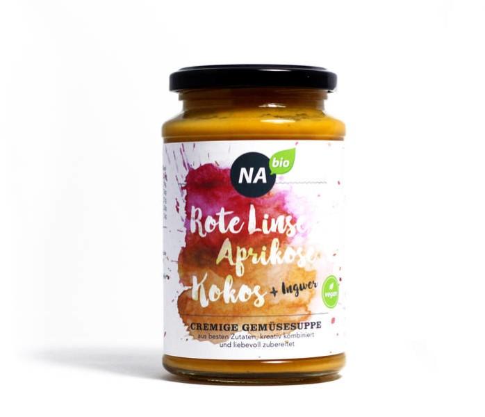 LOGO_NABIO – CREMIGE GEMÜSESUPPE *Rote Linse Aprikose Ingwer*