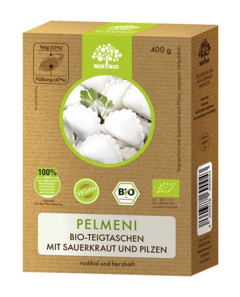 """LOGO_""""Pelmeni"""" organic dough bags with sourkraut and mushrooms"""