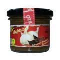 LOGO_SCHWARZER KNOBLAUCH - SUPER-AUFSTRICH - 100% BIO-VEGAN miit den Superfood Chía und Buchweizen, glutenfrei.