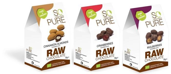 LOGO_SoPure Bio Früchte und Nüsse in roher Schokolade