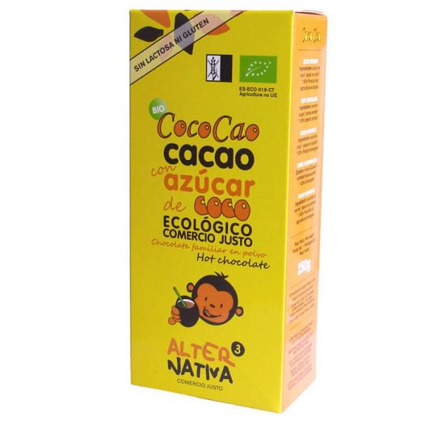 LOGO_CocoCao: Fairtrade Bio Heißschokolade mit Kokosnusszucker, nur mit Kokosnuszucker und Kakao hergestellt