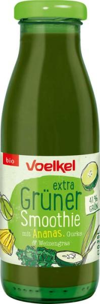 LOGO_extra Grüner Smoothie mit Ananas, Gurke & Weizengras