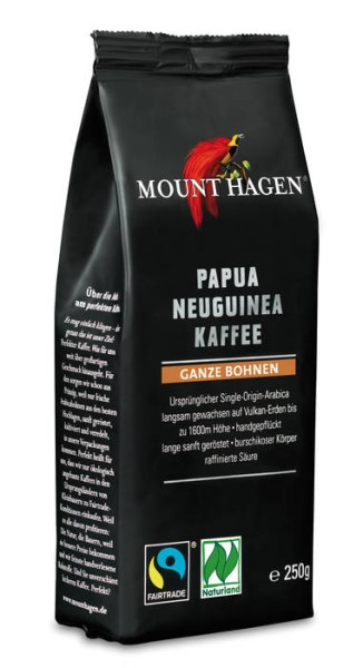 LOGO_Mount Hagen 100% SingleOrigin PapuaNewGuinea roasted coffee 250g whole bean - Cert. Org. Fairtrade Naturland