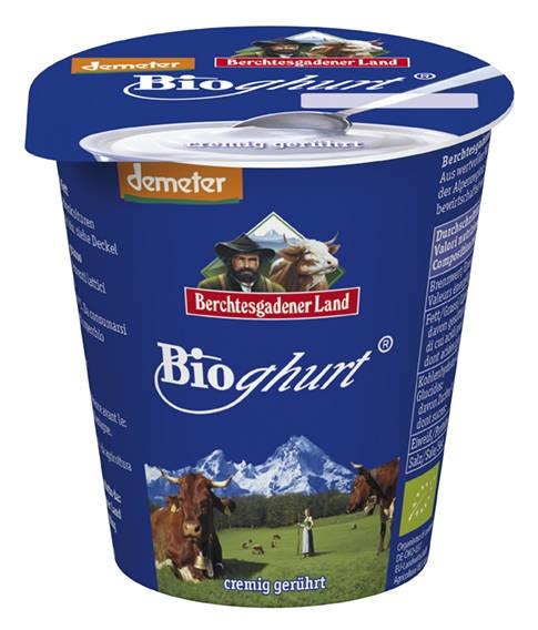 LOGO_organic whole milk plain yoghurt, creamy stirred, 150g