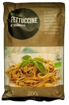 LOGO_Organic Fettuccine produced by green beans.