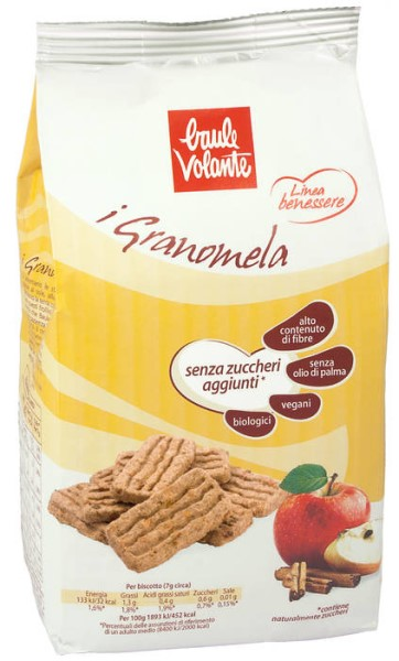 LOGO_I Granomela - Wheat biscuits with apple pieces and cinnamon, with no added sugar