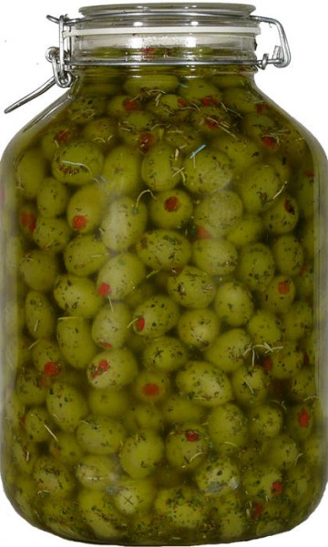 LOGO_Oliven in Kräuteröl. Rohkost