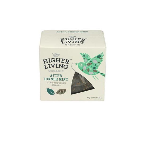 LOGO_HIGHER LIVING AFTER DINNER MINT TEA, 20 Teabags.