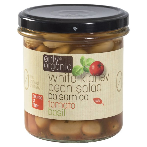 LOGO_White kidney beans salad with basil, tomato and balsamico