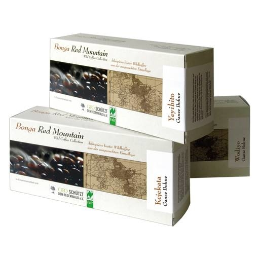 LOGO_Bonga Red Mountain, Wild Coffee Collection, Bonga Forest, Äthiopien bio- und Naturland Fair-zertifiziert 100% Arabica, 250g