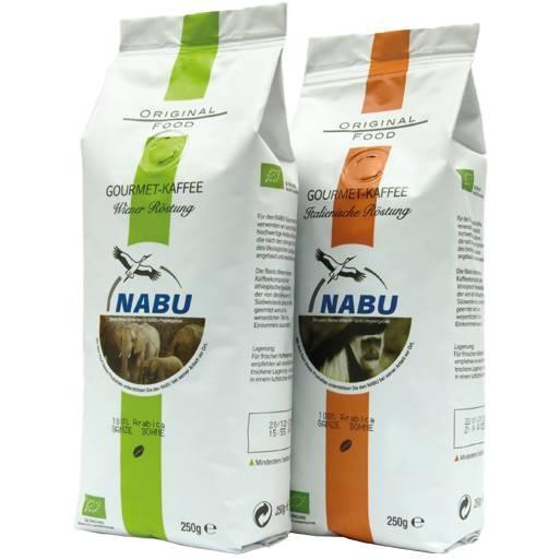 LOGO_Gourmet – Kaffee mit dem NABU, bio-zertifiziert 100% Arabica, 250g bzw. 1000g