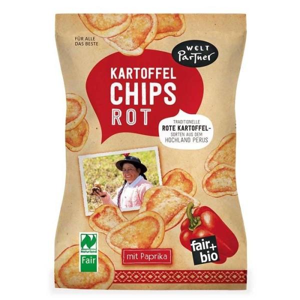 LOGO_Kartoffelchips, rot, mit Paprika, gesalzen, fair+bio, Naturland Fair