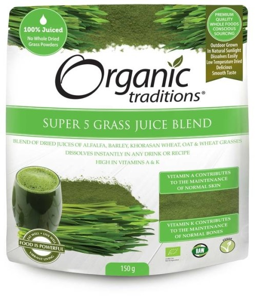 LOGO_Organic Traditions® Super 5 Grass Juice Blend