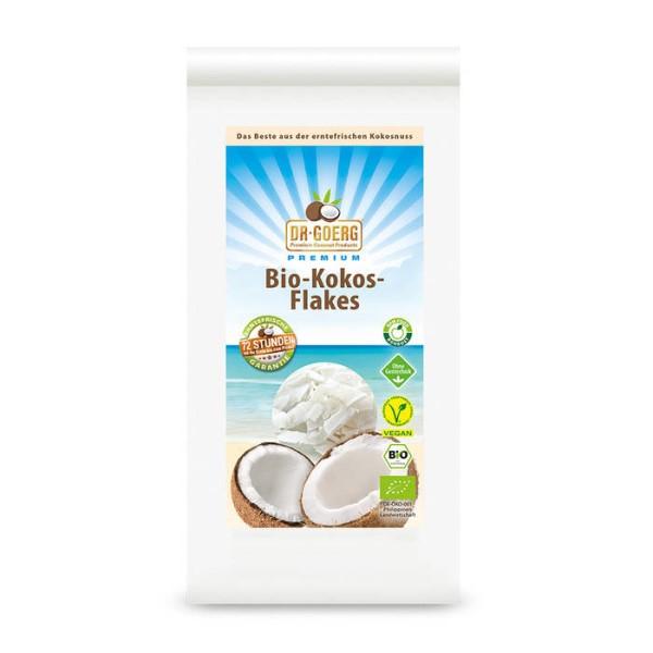 LOGO_Premium Raw Organic Coconut Flakes, 300 g