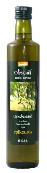 LOGO_DEMETER Olivenöl nativ extra  aus dem biologisch-dynamischem Anbau von EPIKOUROS