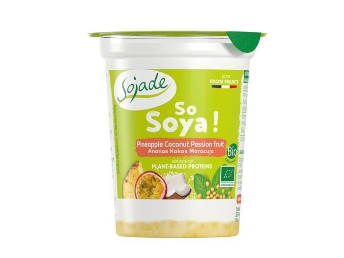 LOGO_Sojade So Soya Organic Pineapple-Coconut-Passion fruit Layered yog. alt. 125g